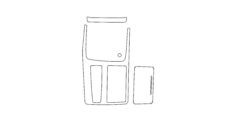Защитная пленка для интерьера салона Audi Q7 (2020) Base S-line