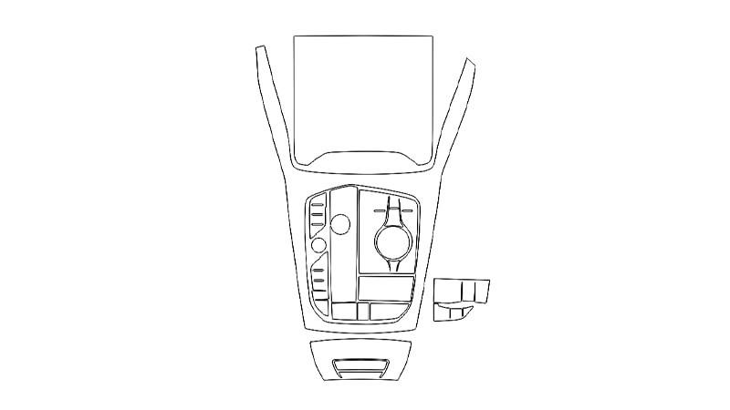 Защитная пленка для интерьера салона BMW X6 (2019)