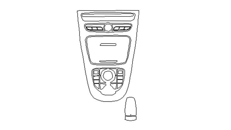 Защитная пленка для интерьера салона Mercedes Benz E (2017) AMG 63