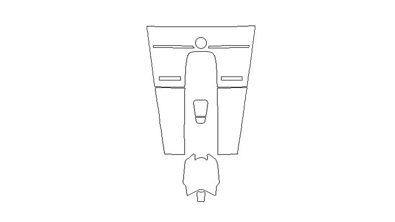 Защитная пленка для интерьера салона Porsche Cayenne (2018)