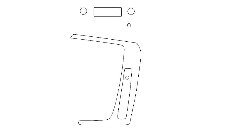 Защитная пленка для интерьера салона Audi Q5 (2017)